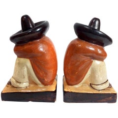 Pair of Ceramic Mexican Bookends