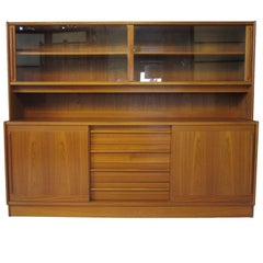 Niels Moller Two-Piece Danish Teak Cabinet with Bookcase or Display Top