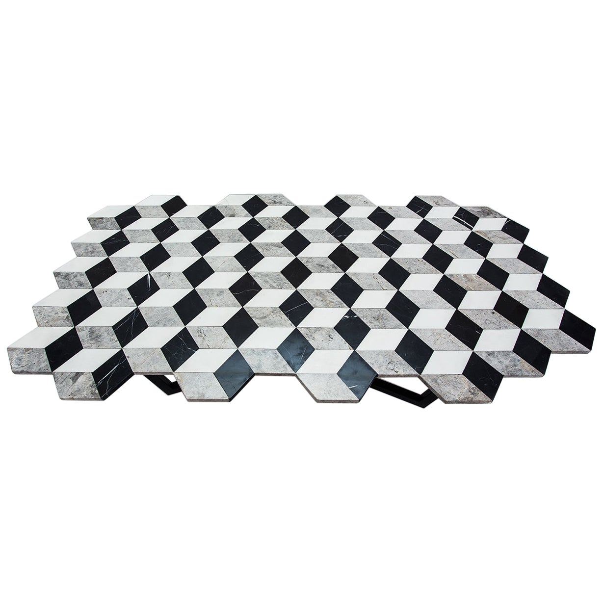 21st Century Diplopia Monochrome X-Large Cubic Marble Coffee Table