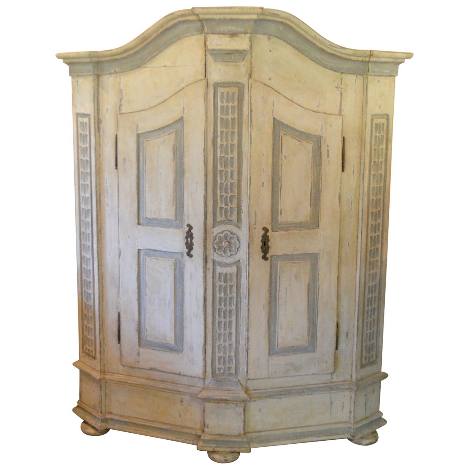 Late 18th Century Armoire in Painted Wood