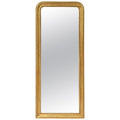 Louis Philippe Arch Top Gilt Mirror (H 46 3/4 x W 19 5/8)