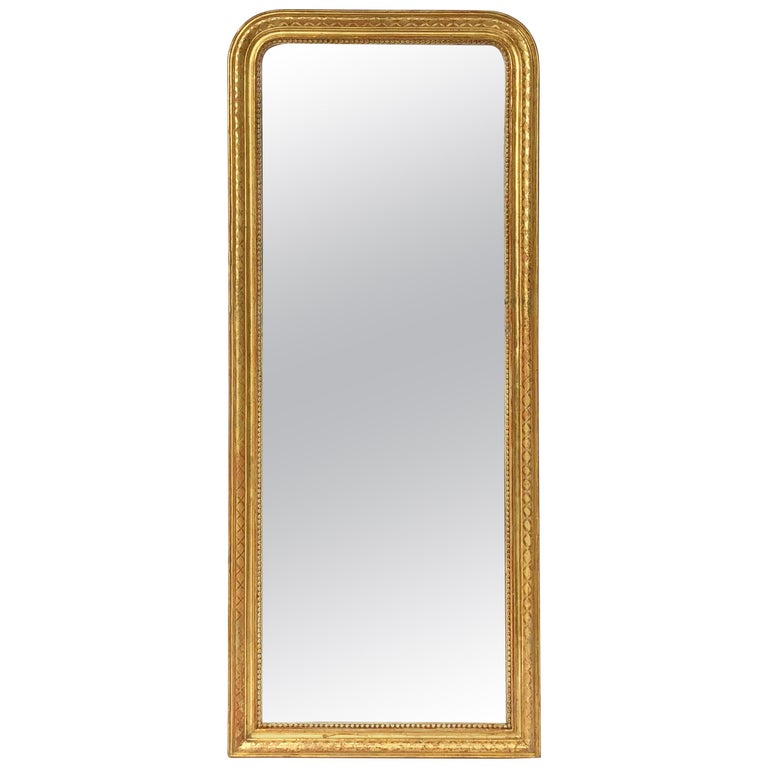 Louis Philippe Arch Top Gilt Mirror (H 46 3/4 x W 19 5/8)