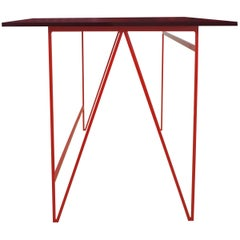 Colour Play Kitchen Dining Table in Red and Beetroot