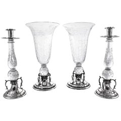 Candlesticks and Matching Vases