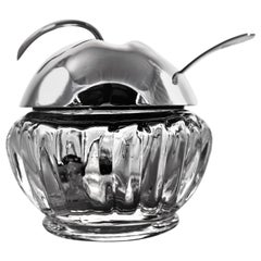 Sterling Silver and Crystal Apple Jar