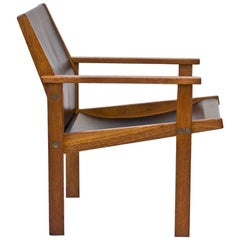 Rare Teak and Leather Easy Chair by Hans Agne Jakobsson, Sweden, 1976