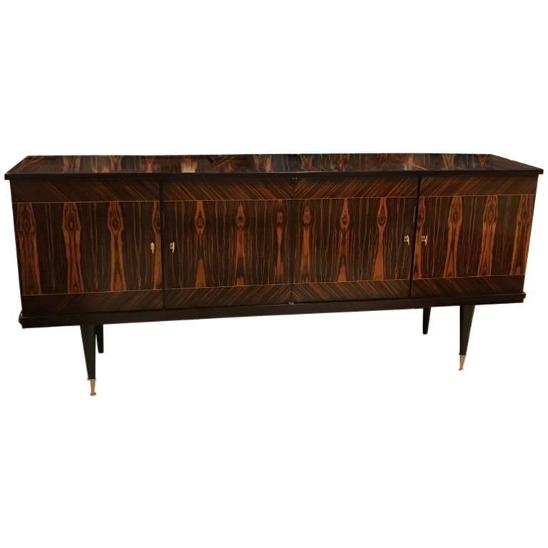 French Art Deco Macassar Ebony Sideboard or Buffet