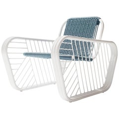 Granada Outdoor Club Chair with Hand Woven Rope Seat 2018 by Post & Gleam