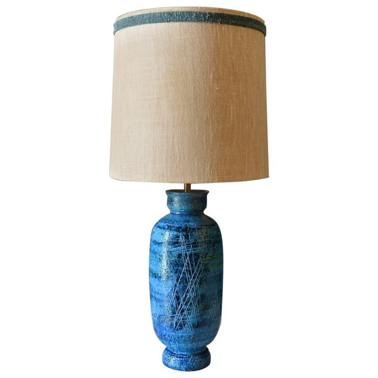 Table Lamp by Aldo Londi for Bitossi, Italy, circa 1965