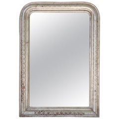 Louis Philippe Silver Gilt Mirror (H 35 x W 24 3/4)