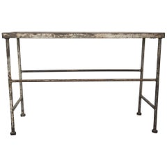 Metal Garden Table with Marble Top