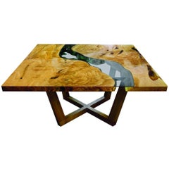 Square River Run Dining Table