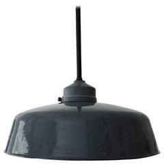 Large Bauhaus Industrial Enamel Lamp by Siemens