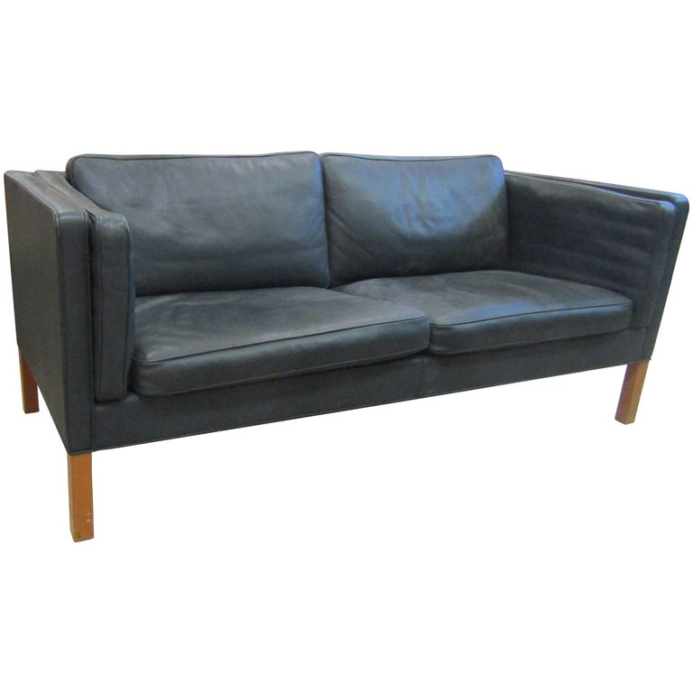 Leather Sofa by Børge Mogensen for Fredericia Stolefabrik Model 2335
