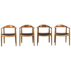 """Pair of """"The Chair"""" by Hans Wegner for Johannes Hansen"""