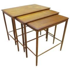 Set of Three Greta Jalk Nesting Tables in Teak
