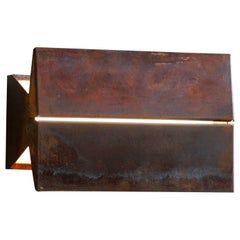 Outdoor Rated Ada Sconce 9 Corten (Limited Production) by Brendan Ravenhill