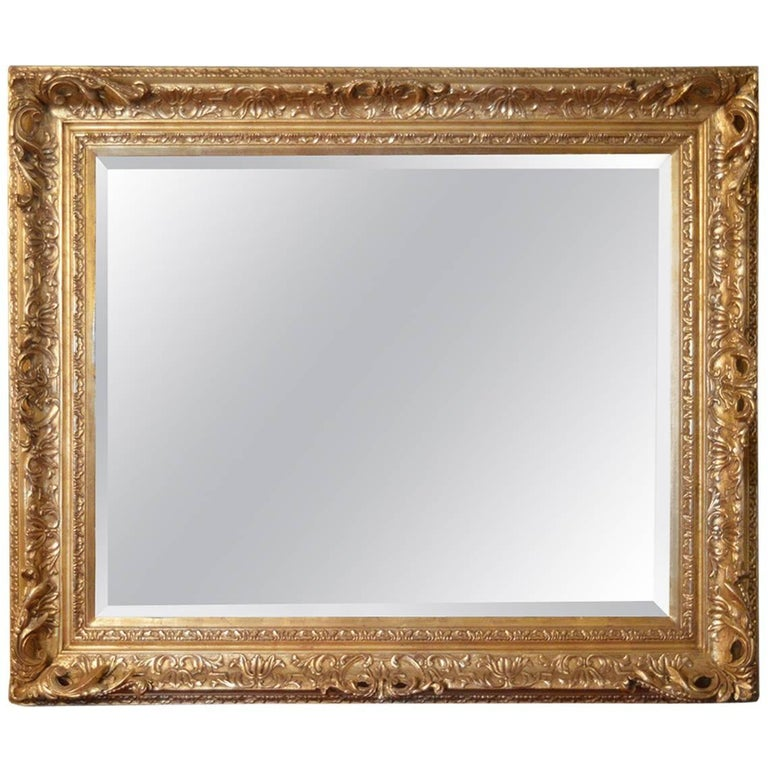 18th Century Gilded Mirror For Sale