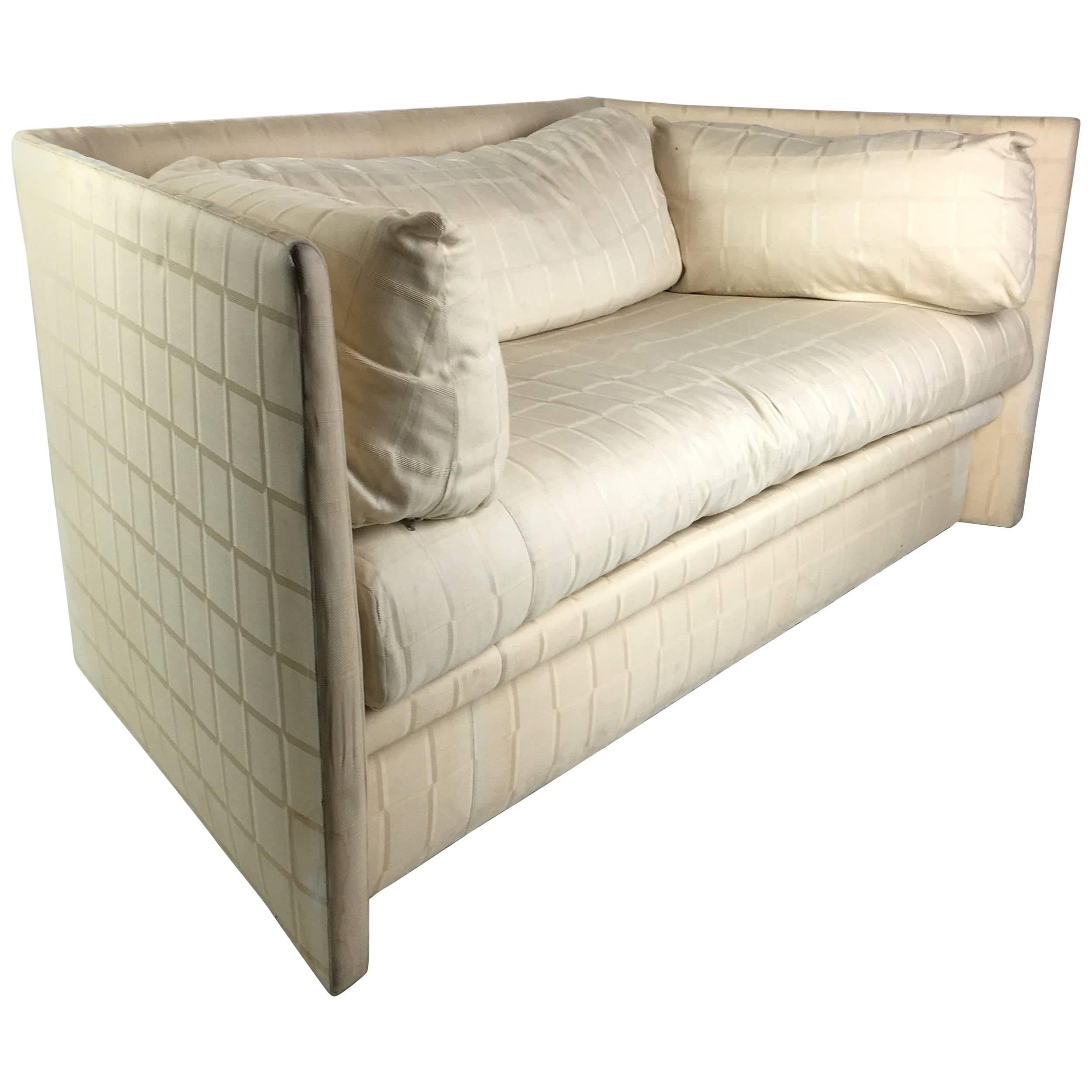 Angled Sides Sofa By John Saladino For Baker