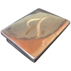 Silver Mixed Metals Lidded Box by Los Castillo