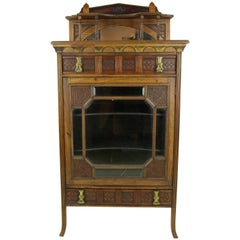 Antique Music Stand, Music Cabinet, Music Box, Walnut, Scotland, 1880, B1104