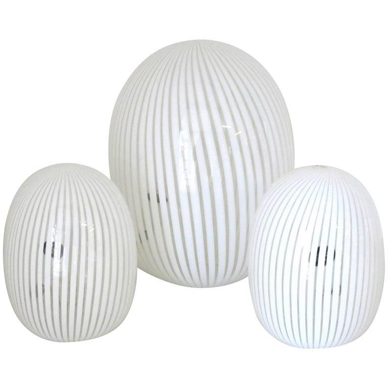 Set of Three Vintage Murano Lamps