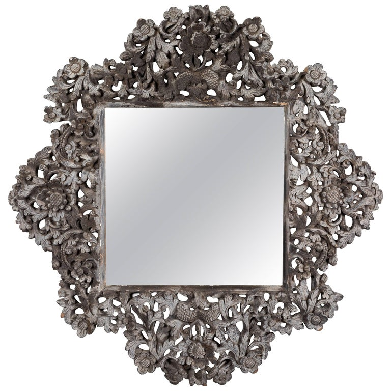 Vintage Spanish Colonial Style Mirror by Tony Duquette For Sale