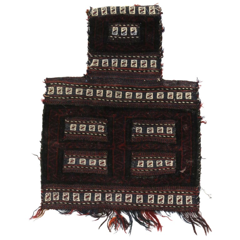Antique Afghan Balouch Salt Bag, Wall Hanging, Afghan Tapestry, Tribal Textile For Sale