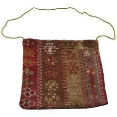 Vintage Afghan Kilim Salt Bag, Tribal Textile, Wall Hanging, Afghan Tapestry