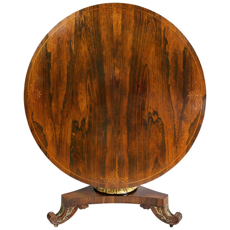 Fine Regency Rosewood and Inlaid Centre / Breakfast Table