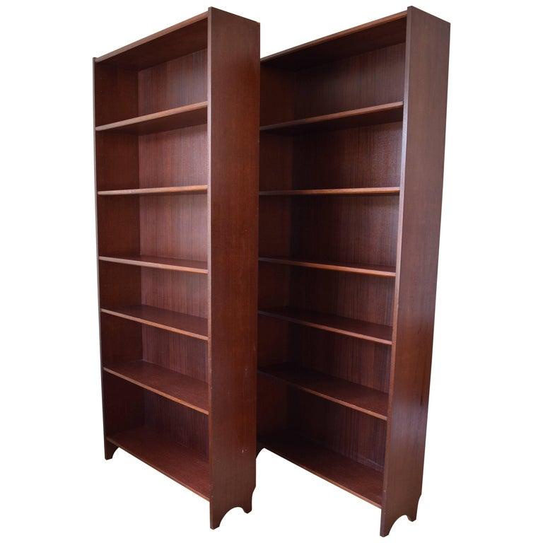 Danish Teak and Rosewood Bookshelves