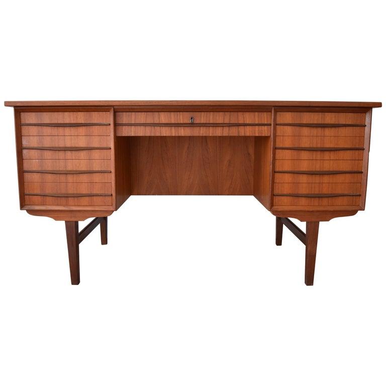 Danish Midcentury Teak Executive Desk, 1960s