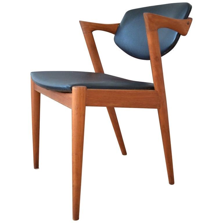 Midcentury Kai Kristiansen Model 42 Teak Dining Chair