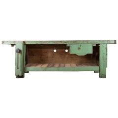 Old Green Workbench