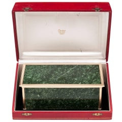 Cartier 14 Carat Gold Jade Rare Case Box 20th Century