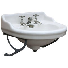 Late 19th Century French Basin/Sink with Wall Brackets