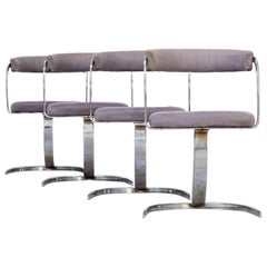 Set of Four 1980s Italian Design Cantilever Chairs