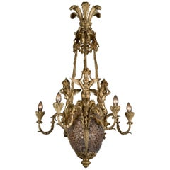 Fine Napoléon III Six-Light Chandelier by Maison Millet
