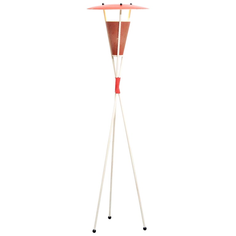 Dutch Midcentury Tripod Floor Lamp