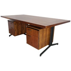 Large Rosewood Midcentury Desk by Friso Kramer and Coen de Vries, 1960s