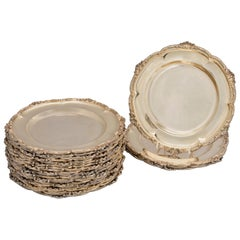 Set of 24 Silver-Gilt Plates by Hunt & Roskell