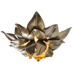 Maison Charles Flower Ceiling Lamp, France, 1970