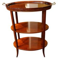 Edwardian Inlaid Mahogany Oval Tray Table