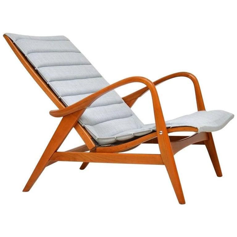 1960s Vintage Swedish Reclining Armchair