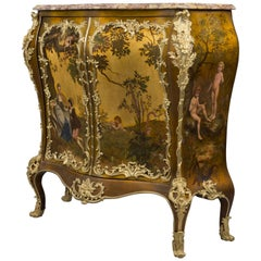 A Fine Louis XV Style Vernis Martin Side Cabinet by Maison Millet