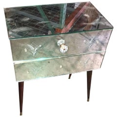 Hollywood Regency Mid-Century Modern Nightstand
