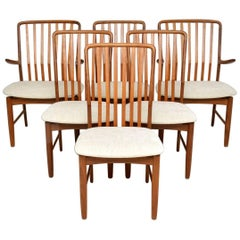 1960s Vintage Set of Six Danish Teak Dining Chairs by Svend Åge Madsen