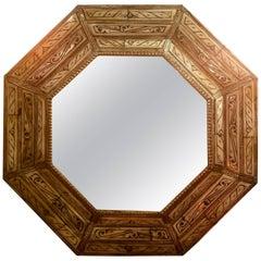 Hexagonal Ivory Color Camel Bone Mirror, Beveled