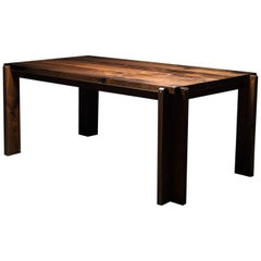 Castelgar Dining Table by Ambrozia, Solid Walnut and Polished Brass, Six Places