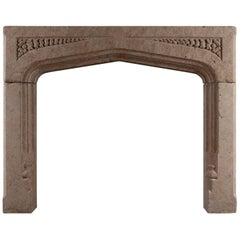 Gothic Revival Stone Fireplace